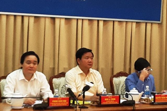 Bí thư Thành ủy TPHCM Đinh La Thăng cho biết kiên quyết xóa dạy thêm, học thêm trong nhà trường từ năm học 2016-2017 trong buổi làm việc với Bộ GD-ĐT ngày 7/6/2016.