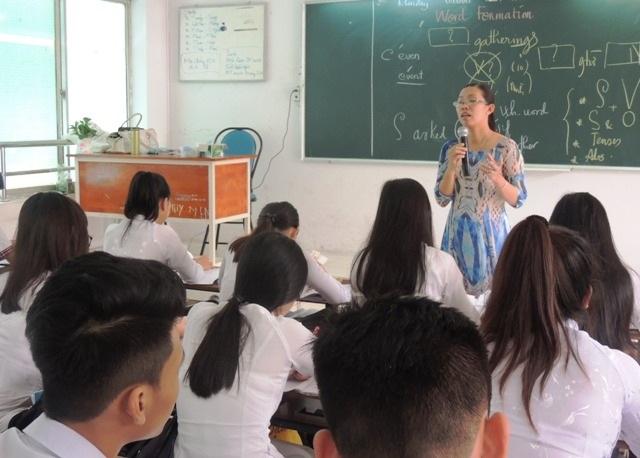 Một giờ học tiếng Anh ở trường phổ thông tại TPHCM