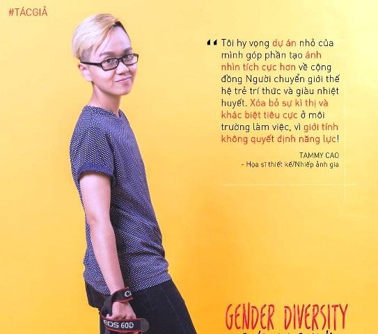 TAMMY Cao, tác giả bộ ảnh Giới tính không quyết định năng lực để truyền thông điệp tích cực về người chuyển giới đến với xã hội