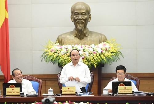 Thủ tướng yêu cầu ngay từ cuộc họp thường kỳ tháng này đã phải bàn những chủ trương lớn để ngay quý I/2017 đạt tốc độ tăng trưởng cao.