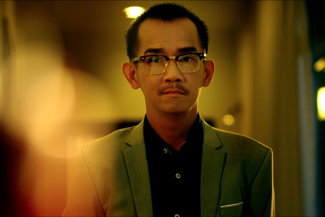 Minh Thuận khá gầy khi xuất hiện trong phim.
