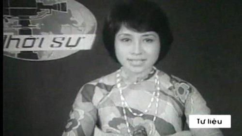 NSƯT Kim Tiến trong những ngày dẫn bản tin truyền hình. Ảnh: TL