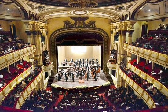 Một chương trình nghệ thuật diễn ra trong khuôn khổ Festival Âm nhạc mới Á-Âu. Ảnh: TL.