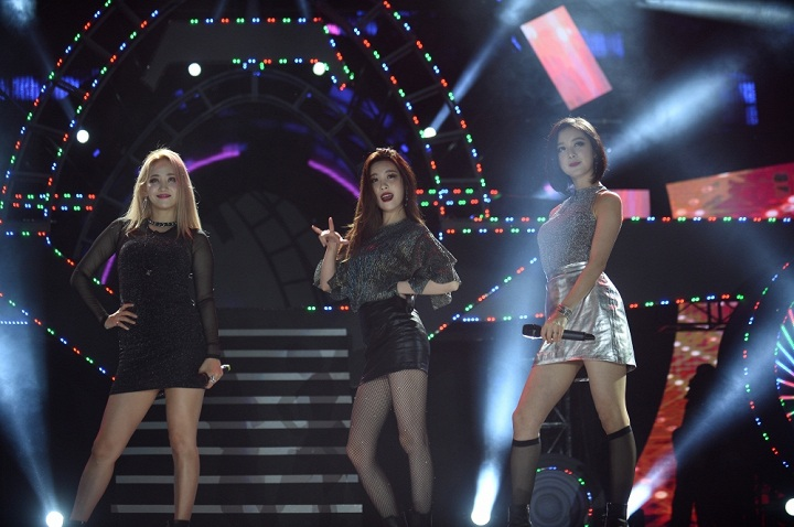 Wonder Girls trong đêm nhạc mới đây tại TP.HCM. Ảnh: TL.