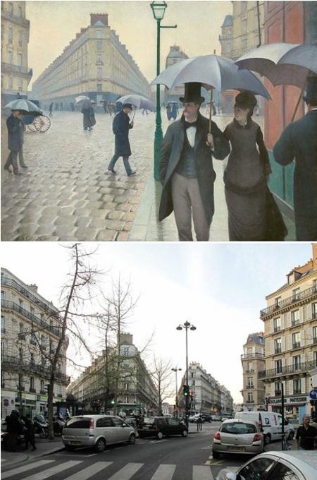"""Bức """"Phố Paris, ngày mưa"""" của Gustave Caillebotte."""