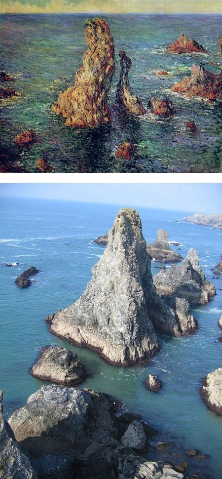 """Bức """"Những kim tự tháp ở cảng Coton (Pháp)"""" do danh họa người Pháp Claude Monet vẽ năm 1886."""