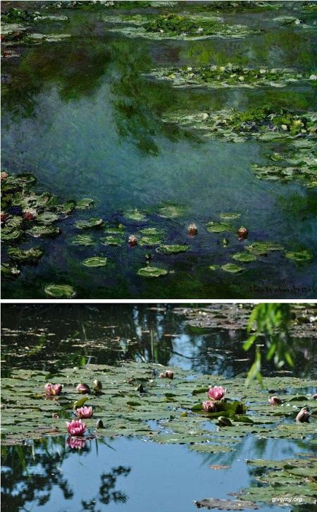 """Bức """"Hoa súng"""" (1906) của danh họa Pháp Claude Monet."""