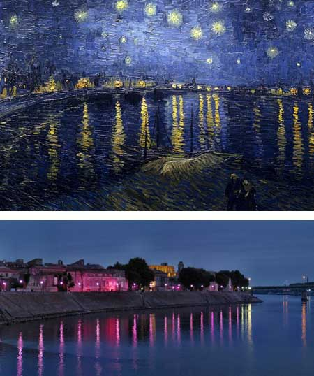 """Bức """"Dãy núi Mont Saint Victoire"""" (ở miền nam nước Pháp) của danh họa Paul Cezanne."""