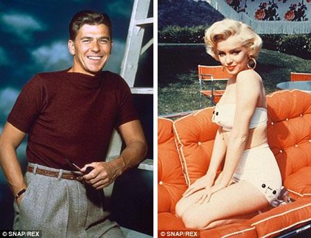Ronald Reagan (ngoài cùng bên phải) trong phim