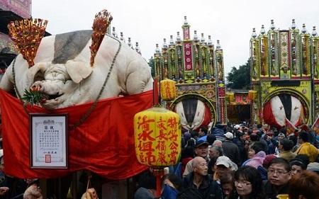 Lễ tế lợn ở Đài Loan.