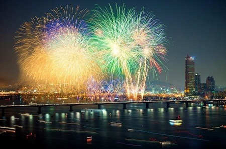 Năm mới Ất Mùi đã đến với Hàn Quốc vào lúc 10h theo giờ Việt Nam.