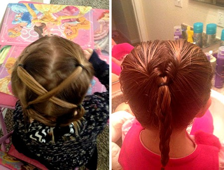 """Đối với Wickherst, việc buộc tóc cho cô con gái Izzy giờ không còn là việc """"khổ sở"""" nữa."""