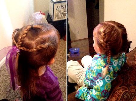 """Wickherst giờ đây còn thích thú thử nghiệm những kiểu buộc tóc mới để """"làm đỏm"""" cho con gái."""