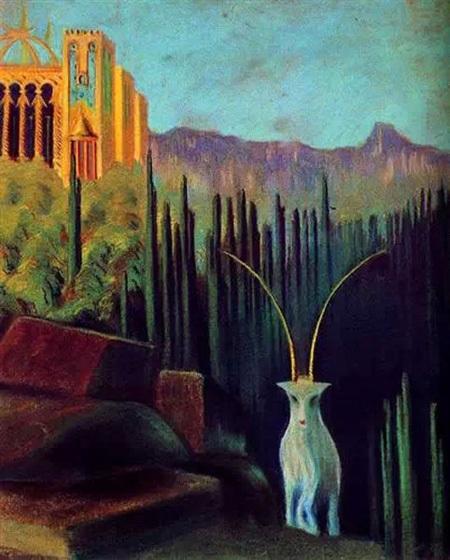 """Bức """"Chú dê"""" - họa sĩ người Lithuania - Mikalojus Ciurlionis (1875-1911)."""