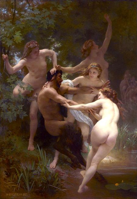 """Bức """"Các nữ thần và thần Pan"""""""