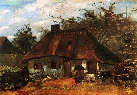 """Bức """"Nhà tranh, người phụ nữ, và chú dê"""" - danh họa người Hà Lan Vincent van Gogh (1853-1890)."""