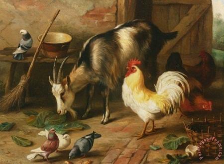 """Bức """"Cô bé và chú dê"""" - họa sĩ người Pháp Camille Pissarro (1830-1903)."""