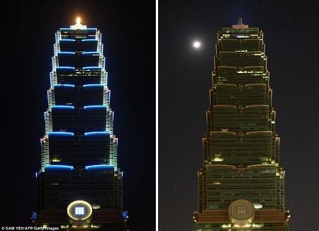Tòa nhà cao tầng ở Đài Bắc.