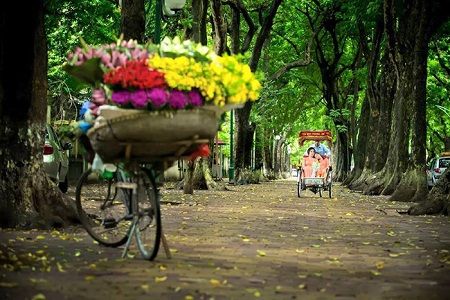 Cũng trên con phố Phan Đình Phùng, hai mẹ con diva Mỹ Linh đã có những hình ảnh tuyệt đẹp.