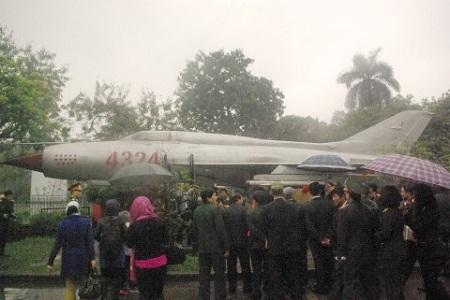 Chiếc máy bay Mig 4324 được trưng bày tại bảo tàng