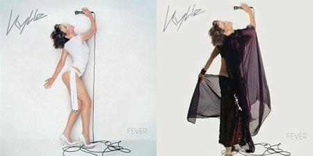 """Bìa album """"Fever"""" của Kylie Minogue."""