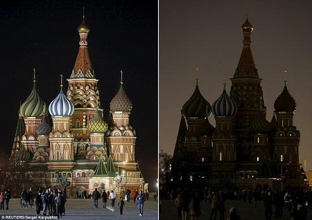 Nhà thờ chính tòa Thánh Basil ở Moscow, Nga.