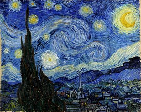 Tranh Van Gogh thể hiện những hiểu biết về thiên văn