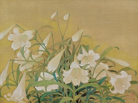 """Bức """"Hoa loa kèn"""" của họa sĩ Lê Phổ có giá 187.500 đô la Hồng Kông (526 triệu đồng)."""