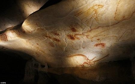 Diện tích của hang động gốc Chauvet-Pont-d'Arc là 8.500 m