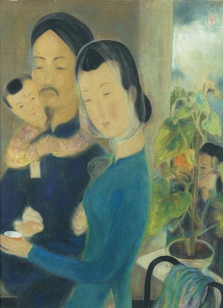 """Bức """"Hái cây thuốc"""" của họa sĩ Lê Phổ, vẽ năm 1932."""