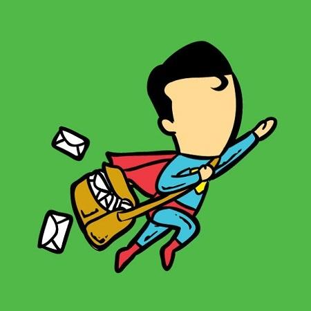 Siêu nhân Superman với khả năng bay lượn thành thần, đi làm người đưa thư.