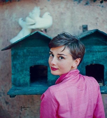 Audrey Hepburn ở Ý. Ảnh chụp cho bìa tạp chí Life (1954).