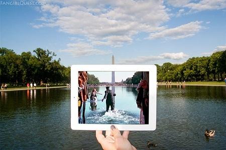 """Cảnh trong phim """"Forrest Gump"""" quay ở tượng đài Lincoln, thủ đô Washington, Mỹ."""