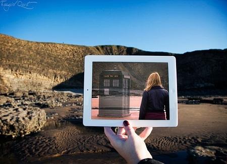 """Cảnh trong phim truyền hình """"Doctor Who"""" quay ở vịnh Dunraven, Wales, Anh."""