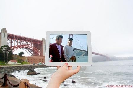 """Cảnh trong phim """"Star Trek"""" quay ở cầu Cổng Vàng, thành phố San Francisco, Mỹ."""