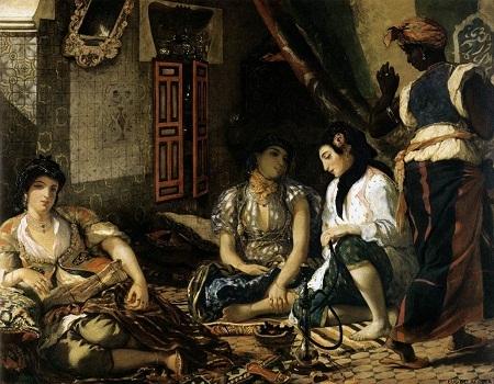 """Bức """"Những người phụ nữ Algiers trong căn hộ nhà họ"""" của Eugene Delacroix"""