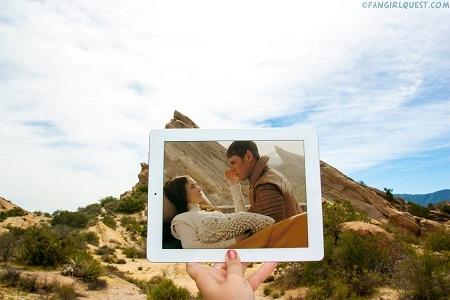 """Cảnh phim """"Star Trek"""" quay ở công viên Vasquez Rocks, bang California, Mỹ."""