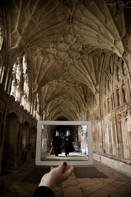 """Cảnh trong phim """"Harry Potter"""" quay ở thánh đường Gloucester, hạt Gloucester, Anh."""