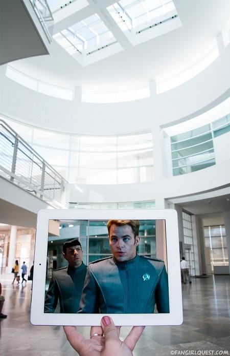 """Cảnh phim """"Star Trek"""" quay trong Viện bảo tàng J. Paul Getty, thành phố Los Angeles, Mỹ."""