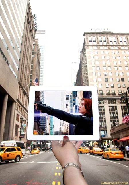 """Những cảnh phim trong """"The Avengers"""" (Biệt đội siêu anh hùng) quay ở New York, Mỹ."""