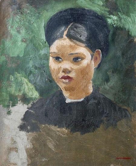 """Bức """"Cô gái miền Bắc"""" vẽ năm 1934."""