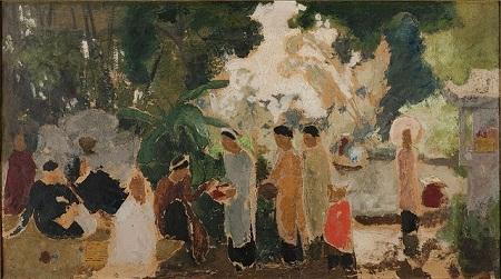 """Bức """"Những người phụ nữ"""" vẽ năm 1932 của Joseph Inguimberty."""