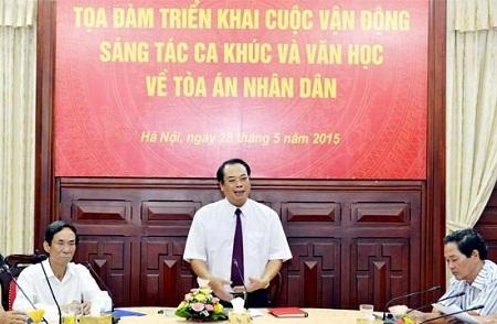 Phó Chánh án Thường trực TANDTC Bùi Ngọc Hòa chủ trì buổi tọa đàm