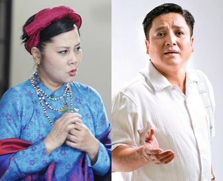 Hai nghệ sĩ Minh Hằng và Chí Trung