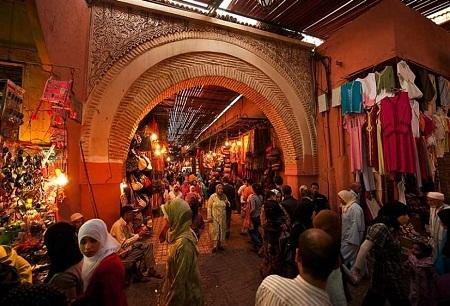 Chợ ở Morocco