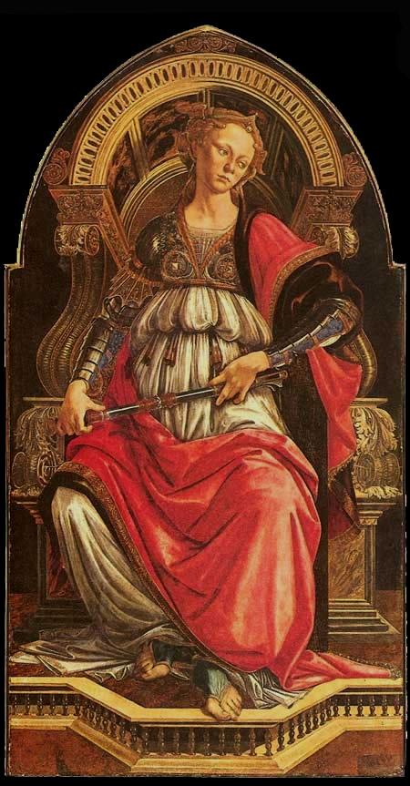"""Danh họa người Ý Sandro Botticelli và bức """"Dũng cảm"""" (1470)"""
