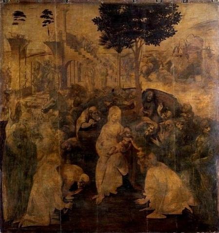 """Danh họa người Ý Leonardo da Vinci và bức """"Sự tôn sùng của các vị đạo sĩ"""" (1481)"""