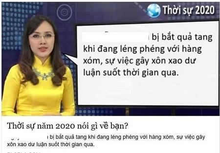 Hình ảnh BTV Hoài Anh từ trò chơi đang gây chú ý