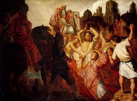 """Danh họa người Hà Lan Rembrandt và bức """"Ném đá Thánh Stephen"""" (1625)"""
