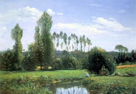 """Danh họa người Pháp Claude Monet và bức """"Cảnh vật nhìn từ xã Rouelles"""" (1858)"""